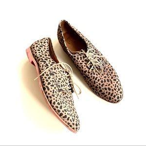 Dolce vita leopard oxfords black brown size 11
